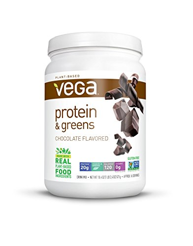 Vega Protein and Greens Tub Powder, Chocolate, 18.4 Ounce ()
