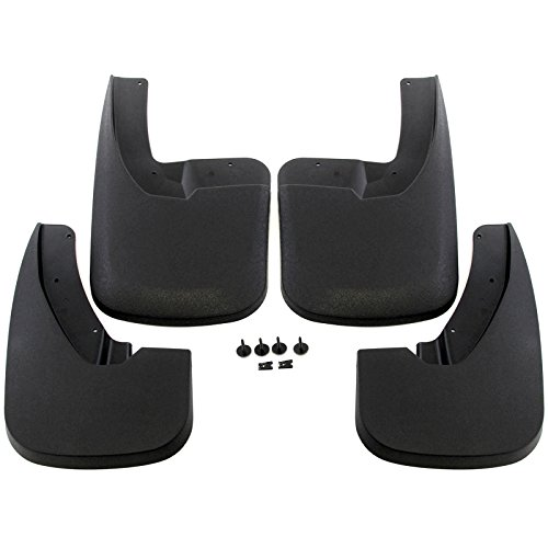 Red Hound Auto Heavy Duty Molded Splash Guards Mud Flaps Compatible with Dodge/Ram (2009-2018 1500, 2010-2018 2500/3500) Only fits Vehicles with OEM Fender Flares, Front and Rear 4 Piece Set