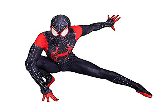200 - Kids/Adults Spider-Man: Into The Spider-Verse Miles Morales Costumes (7) Adults-M Black ()
