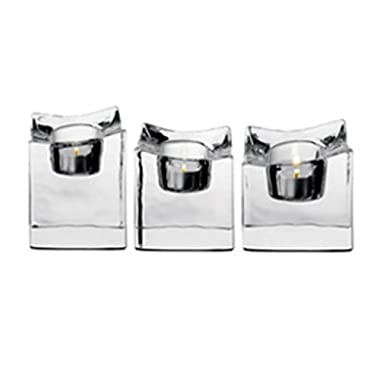 Orrefors Polaris Votives, Set of 3