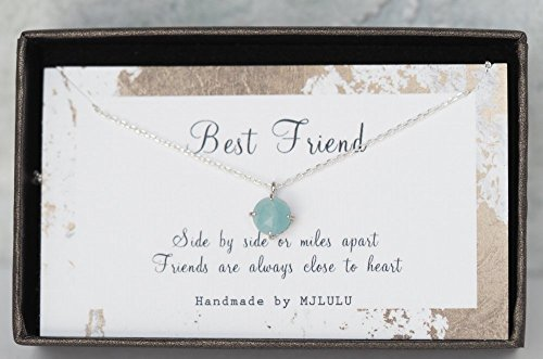 Dainty Amazonite Stone Sterling Silver Gemstone Necklace
