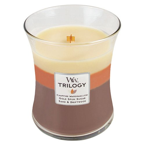 Woodwick Candle, Medium, Trilogy Sunset Bonfire by WoodWick