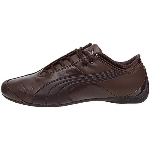 PUMA Mens Future Cat M1 Lux Leather Sneakers (6.5, Chocolate Brown-Black Coffee) (Future Cat Casual Puma)