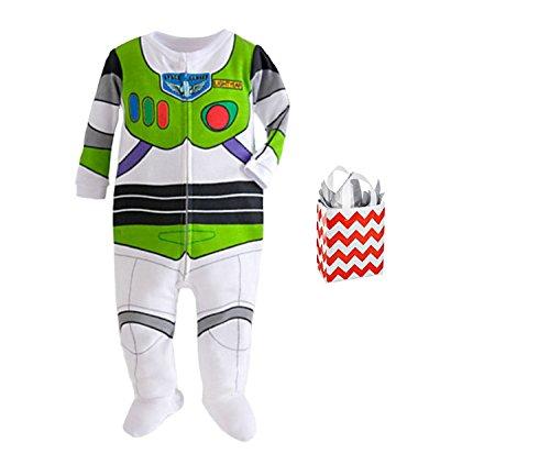 Disney Toy Story Baby Boys' Buzz Lightyear Footie Stretchie & Bag 2 Piece Gift Set (3-6 Months) (Baby Buzz Lightyear)
