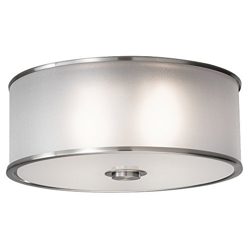 Murray Feiss FM291BS, Casual Luxury Flush Mount Lighting, 2 Light, 120 Total Watts, Steel by Murray Feiss