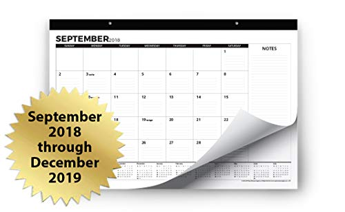 Desk Calendar 2018-2019 (Use Monthly from September 2018 to December 2019) - Large Desk Pad or Wall Calendar - Big Monthly Pages 17'' x 11'' - by Royal Mountain Print Co. by Royal Mountain Print Co. (Image #8)
