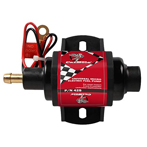 Fuel System Universal - 42s Universal Fuel Pump 5/16 inch Outlet Inlet 2-3.5 P.S.I. 12 Volts 23 gph- 30gph Application for Gasoline Solid Petrol Cars ATVs SUVs RV Truck- 2 Wire Hook UP