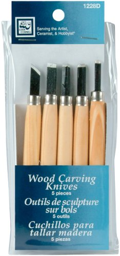 Loew-Cornell Wood Carving Knives, 5-Count