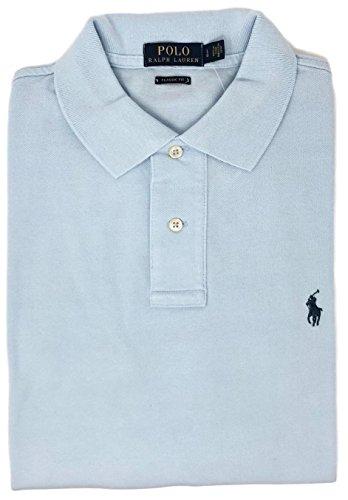 Polo Ralph Lauren Classic Fit Mesh Pony Logo Polo Shirt (XL, VeryLiteBlue)