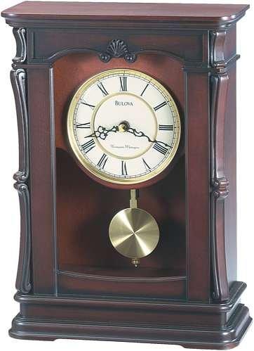 Bulova B1909 Abbeville Clock, Walnut Finish