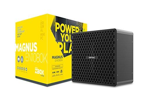 ZOTAC ZBOX MAGNUS EN1080K Liquid-Cooled Gaming Mini PC Intel Core i7-7700 NVIDIA GeForce GTX 1080 8GB GDDR5X VR Ready Whisper Quiet, Compact, 4K Quad Display No Memory/Storage/OS (ZBOX-EN1080K-U)