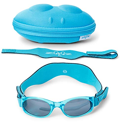 Tuga Baby/Toddler UV 400 Sunglasses w/ 2 Straps & Case, -