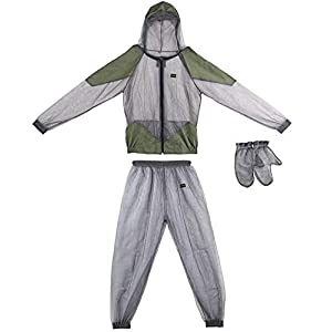 Lixada Mosquito Suit – Whole Body Repellent Bug Jacket Mesh Hooded Suits Men Women Ultra-fine Mesh Insect Protective…