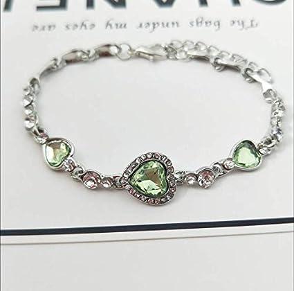 ee5c797ed6d40d Women's Bracelet Love Heart Shaped Heart Crystal Fashion Bracelet: Amazon.co .uk: DIY & Tools