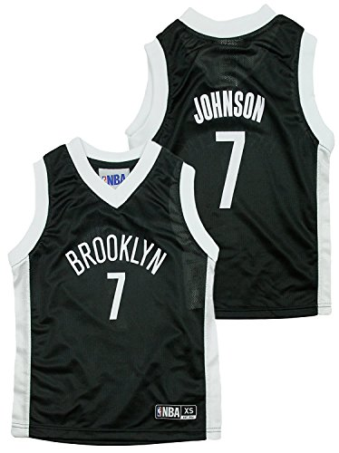 - Outerstuff Brooklyn Nets NBA Little Boys Joe Johnson #7 Dazzle Black Jersey