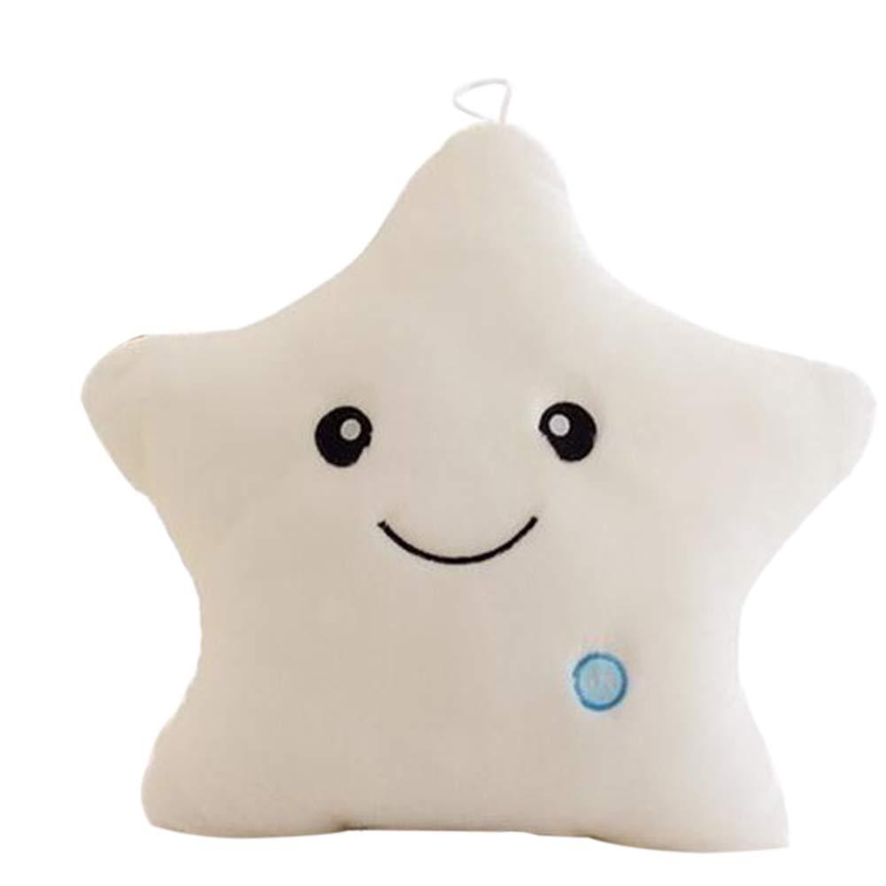 Verlike Creative Twinkle Star Glowing LED Night Light Plush Pillows Stuffed Toys Blue