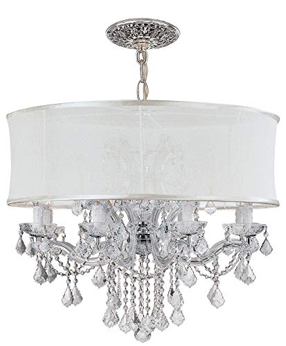Brentwood Twelve Collection Light (Crystorama 4489-CH-SMW-CLM Crystal Accents Eight Light Chandeliers from Brentwood collection in Chrome, Pol. Nckl.finish,)