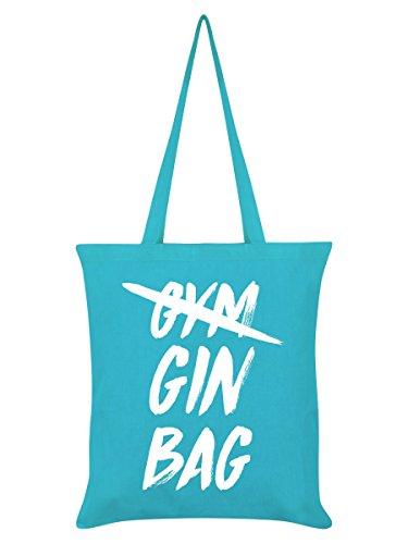 Borsa Tote Gin Bag 38 x 42 cm in azzurro blu