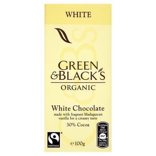 Green & Black's Organic Fairtrade White Chocolate - Organic Chocolate White