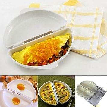 Nueva producttwo huevos microondas omelet cocina pan para ...