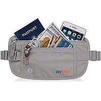 Defway RFID-Blocking Anti-Theft Money Belt (Grey or Black)