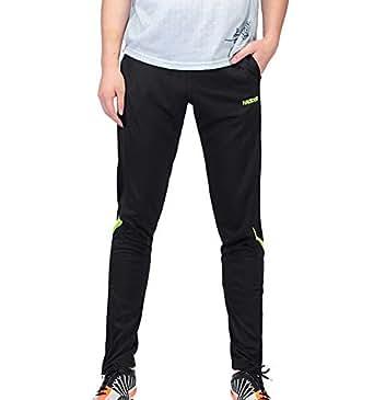 Bmeigo Men Jogging Bottoms Training Trousers Tracksuit Zipper Leg Quick Dry Elastic Waist Pockets
