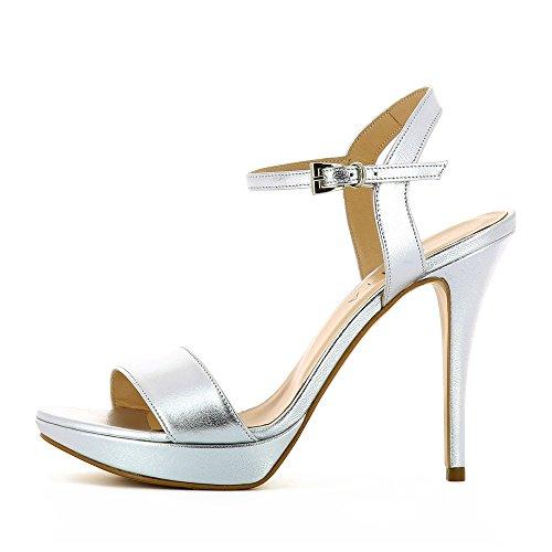 Valeria Damen Sandalette Glattleder Silber 42 Evita Shoes Günstig Kaufen Beliebt Brandneues Unisex Verkauf Online Verkaufsshop s6x3NUi2