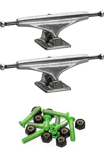 インディペンデントステージ 11-129mm スタンダード光沢仕上げスケートボードトラック 1インチグリーン取付金具付き   B07FDFR7QJ
