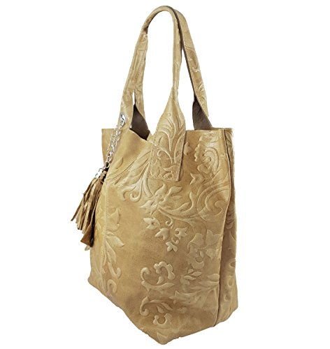 in FreyFashion Beige Made Italy femme Cabas pour R7TqF76