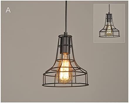 Pantalla Metal Creativa Lámpara de Techo de hierro Forma de Jaula ...