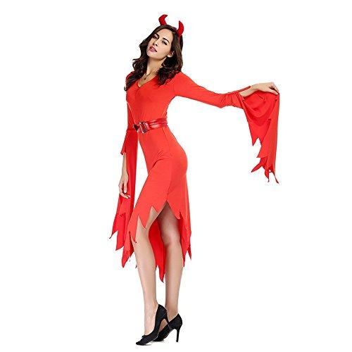 Grande Abbigliamento Codice Strega Rosso M dimensioni Di Vestito Costume Da Diavolo D home Halloween xqZwIaZpz