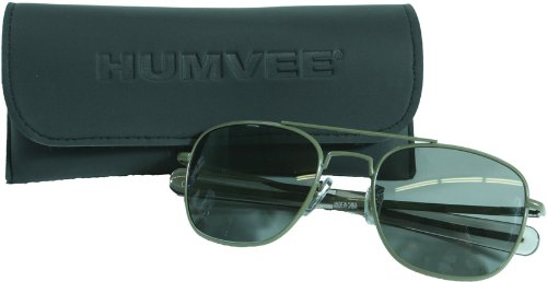 CampCo Humvee HMV-52B-OD Polarized Bayonette Style Military Sunglasses with Gray Lenses and Olive Drab Frame, 52mm