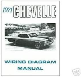Amazon Com 1971 Chevrolet Chevelle Wiring Diagrams Schematics Automotive
