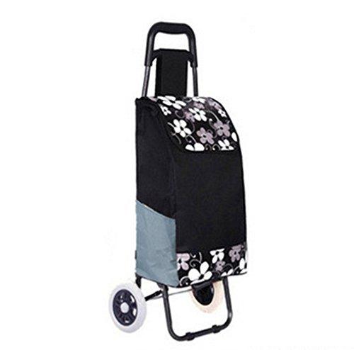 Shopping Trolley Luggage Bag With Wheels (Black) - 9