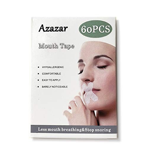 Azazar Sleep Strips,60 pcs Advanced Gentle for Better Nose Breathing, Improved Nighttime Sleeping, Less Mouth Breathing, and Instant Snoring Relief