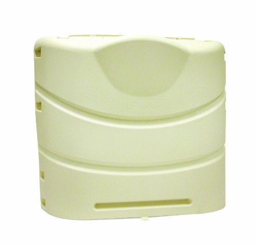 - Camco 40532 Heavy-Duty 20lb or 30lb Dual Propane Tank Cover (Beige)