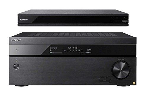 Sony STR-ZA2100ES 7.2 Channel 4K AV Receiver with UBP-X800 4K Ultra HD Blu-ray Player
