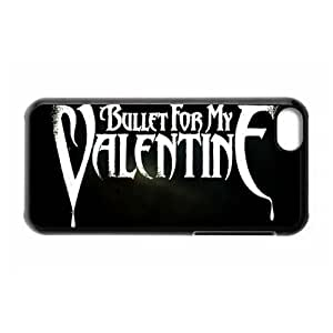 DIY-4 Music Band Bullet For My Valentine Print Black Case With Hard Shell Cover for Apple iPhone 5C