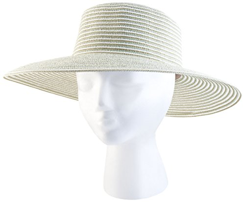 Sloggers Braided Wide Hat, Spring Bunch Green, UPF 50+  Maximum Sun Protection, Style 4404GN - Braided Spring