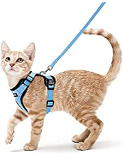 rabbitgoo Cat Harness and Leash for Walking, Escape Proof Soft Adjustable Vest Harnesses for Small Medium Cats, Easy Control Breathable Reflective Strips Jacket