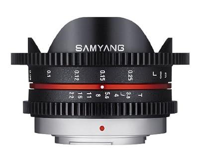 Samyang Cine SYCV75MFT 7.5mm T3.8 Cine Fisheye Lens for Olympus/Panasonic Micro 4/3 Cameras from Samyang
