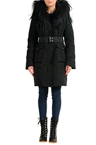 Moncler Women's PRIMEVERE Real Fur Down Hooded Parka Jacket Sz 1 US (Moncler Down Coat)