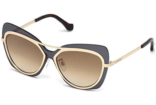 Sunglasses Balenciaga BA 87 BA 0087 28F shiny rose gold / gradient brown