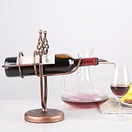 Individual Botella Personalidad Wine Rack Hierro Wine Cabinet Display Stand Verter Vino Diseño Sala de Estar Latón Utensilios de bar Artículos y equipo de servicio para la restauración