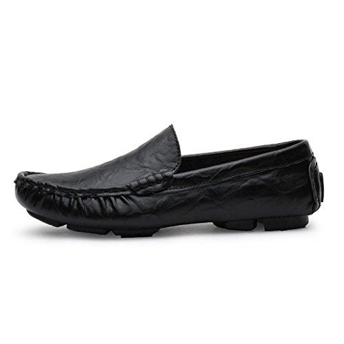de Zapatos Cuero Los Hombres Zapatos Trabajo Conducción Casuales Grande Talla Zapatos Negro Zapatos de x6qqRf1w