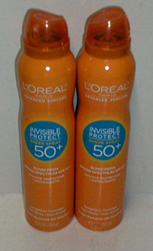 (2 Pack)-L'Oreal Paris Advanced Suncare Sunscreen SPF 50+ Sheer Spray, 4.2 Oz. each