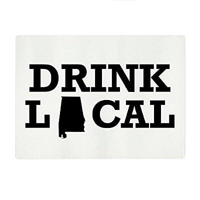 "Drink Local State Rectangular Glass Cutting Board - Medium - 11""x8"""