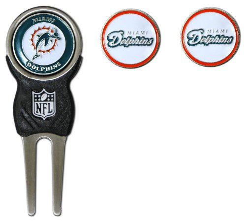 NFL Miami Dolphins Divot Tool Pack With 3 Golf Ball - Miami Stores Dolphin Mall