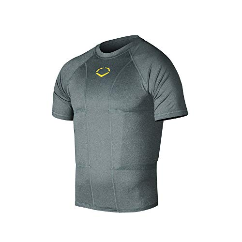 EvoShield Adult Performance Rib Shirt, Charcoal - Large