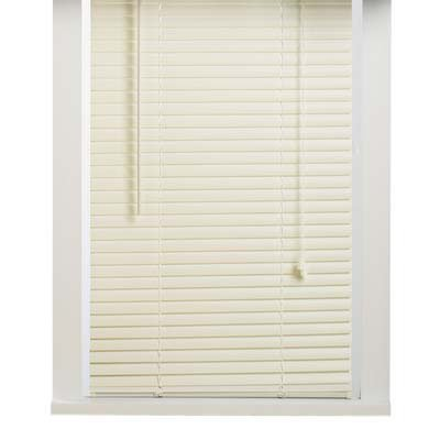 Vinyl 1 Inch Mini Blinds- Alabaster 23x64 Achim